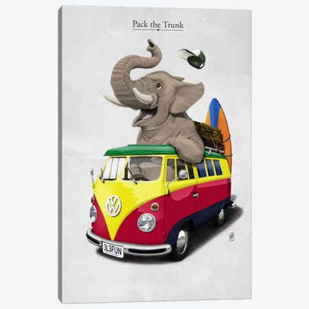 Pack-the-trunk I Canvas Print #RSW7} by Rob Snow Art Print