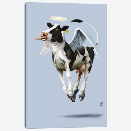 Holy Cow III Canvas Print #RSW89} by Rob Snow Art Print