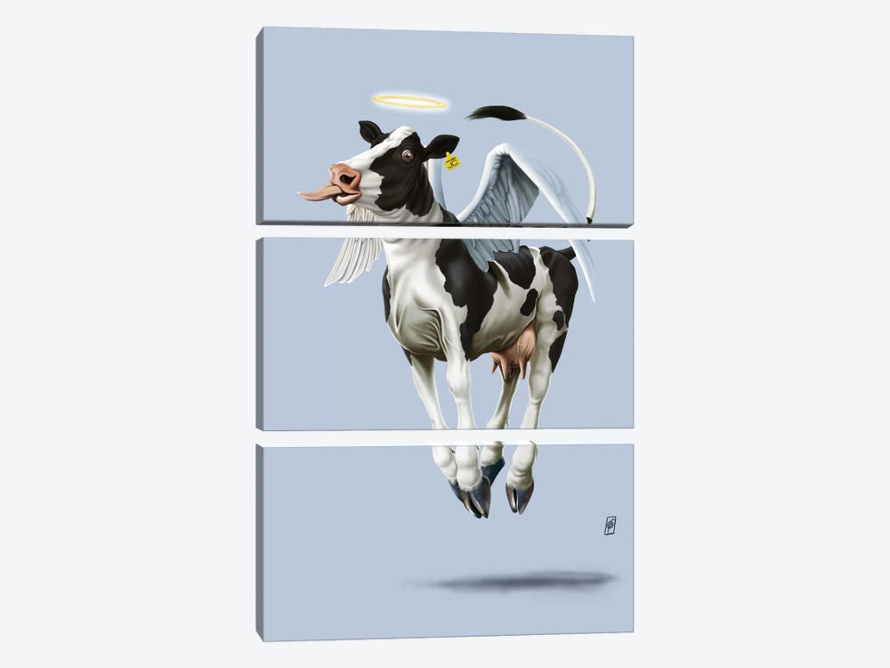 Holy Cow III by Rob Snow 3-piece Canvas Artwork