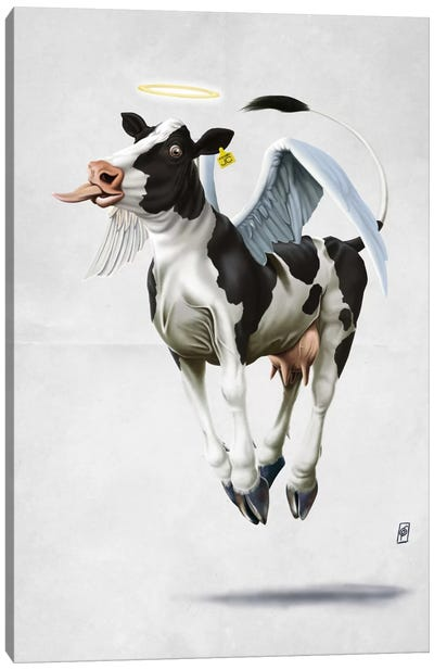 Holy Cow II Canvas Print #RSW90