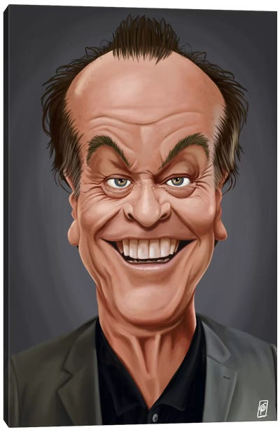 Celebrity Sunday Series: Jack Nicholson I Canvas Print #RSW97