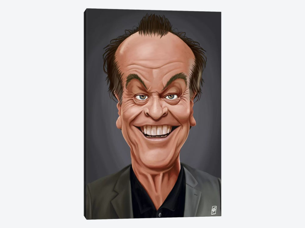 Jack Nicholson I by Rob Snow 1-piece Canvas Art Print