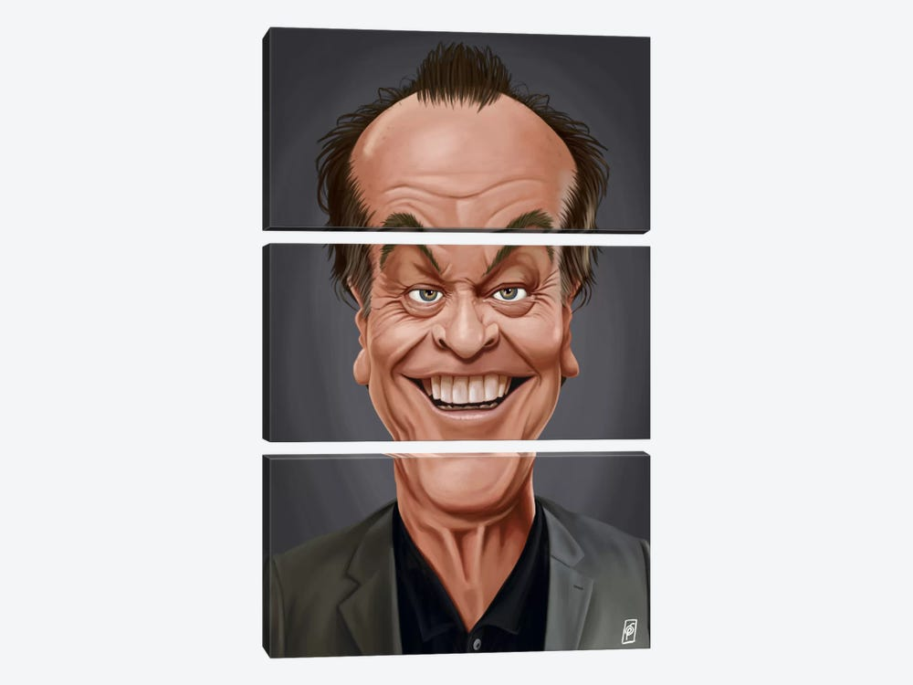 Jack Nicholson I by Rob Snow 3-piece Canvas Art Print