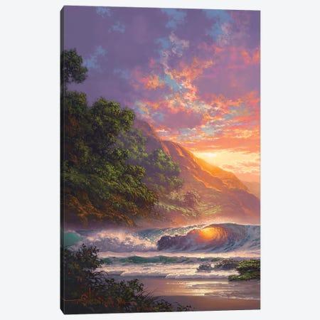 Glistening At Sundown 3-Piece Canvas #RTA11} by Roy Tabora Canvas Print