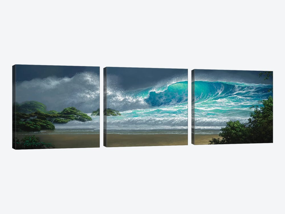 Island Breakers by Roy Tabora 3-piece Canvas Wall Art