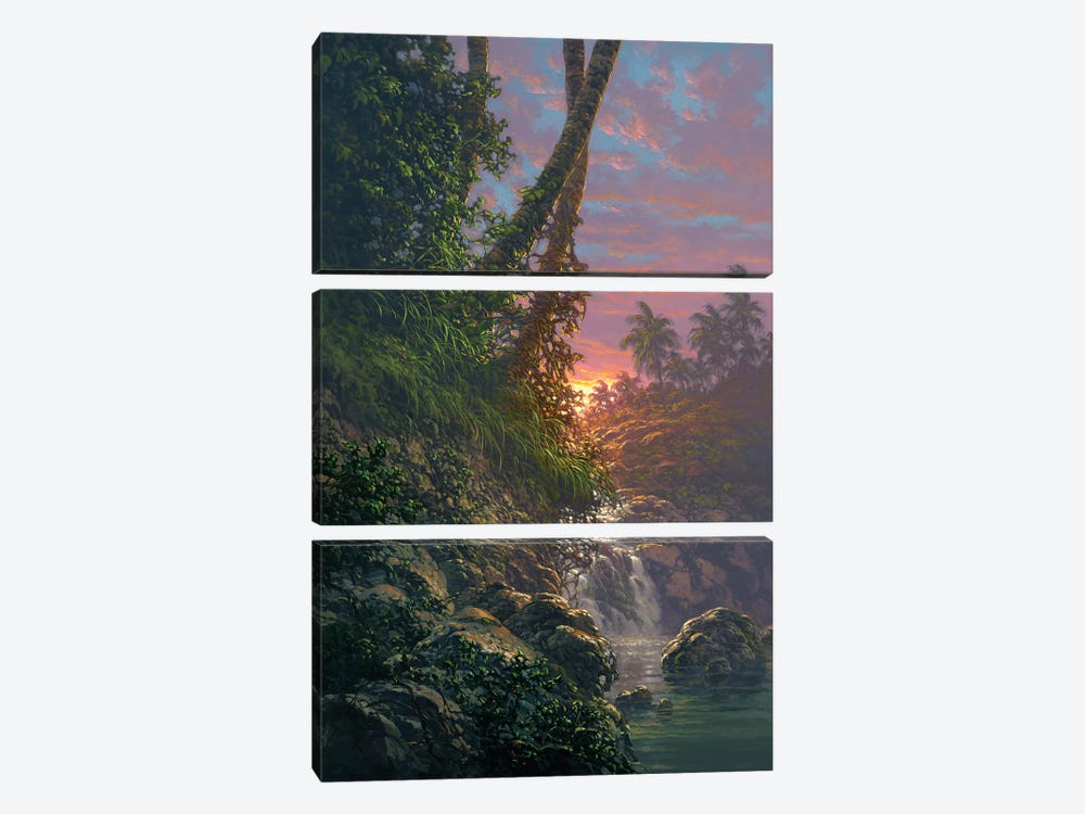 Nature's Hideaway by Roy Tabora 3-piece Canvas Art Print