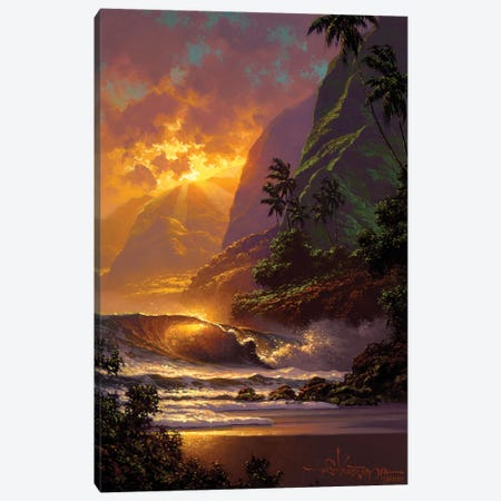 Spill Of The Evening Light Canvas Print #RTA19} by Roy Tabora Art Print