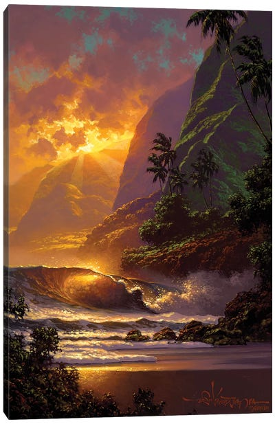 Spill Of The Evening Light Canvas Art Print