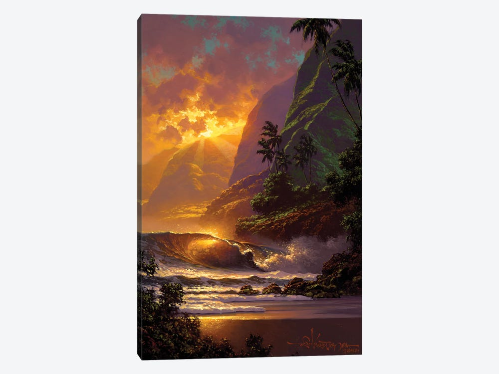 Spill Of The Evening Light 1-piece Canvas Art