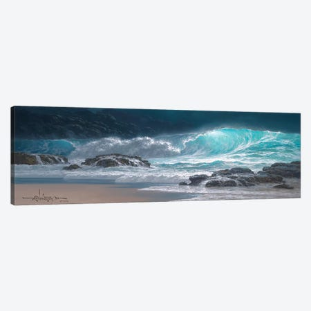 Sweeping Ocean Tide Canvas Print #RTA21} by Roy Tabora Canvas Artwork