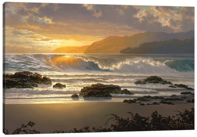 The Golden Surge Canvas Art Print