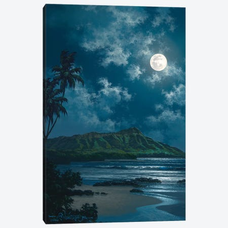 Waikiki Night Sky Canvas Print #RTA27} by Roy Tabora Art Print