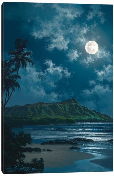 Waikiki Night Sky Canvas Art Print