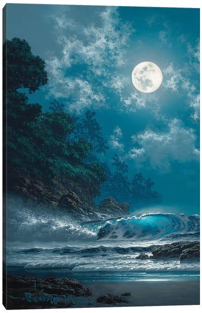 Behold The Moon Canvas Art Print