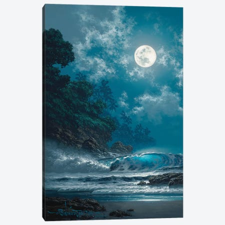 Behold The Moon 3-Piece Canvas #RTA5} by Roy Tabora Canvas Print