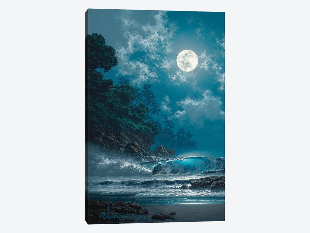Behold The Moon by Roy Tabora 1-piece Canvas Art Print