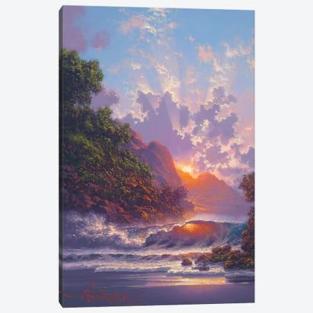 Blush Of Early Dawn 3-Piece Canvas #RTA7} by Roy Tabora Canvas Art Print