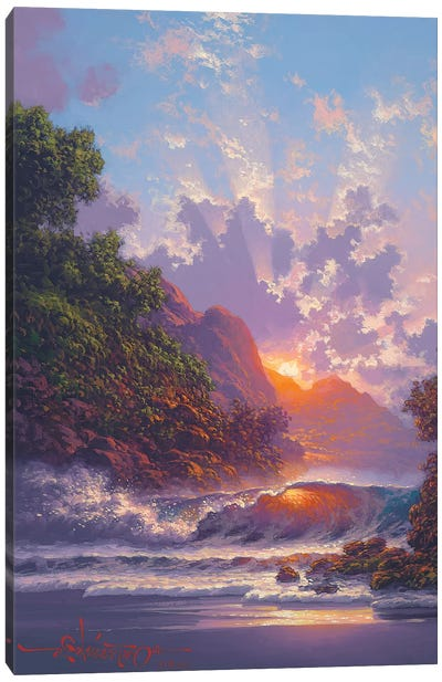 Blush Of Early Dawn Canvas Art Print