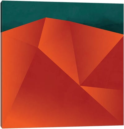 Geometry Art Abstract Copper Petrol Canvas Art Print