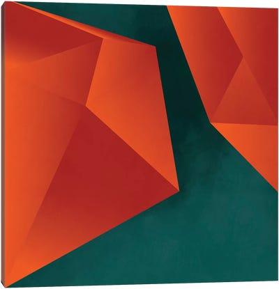 Geometry Art Abstract Copper Petrol 3 Canvas Art Print