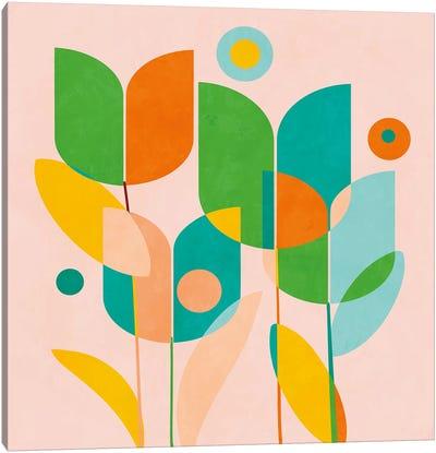 Circles Shapes Tulips Canvas Art Print