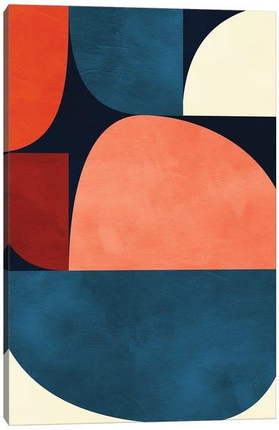 Mid Century Modern X Canvas Art Print