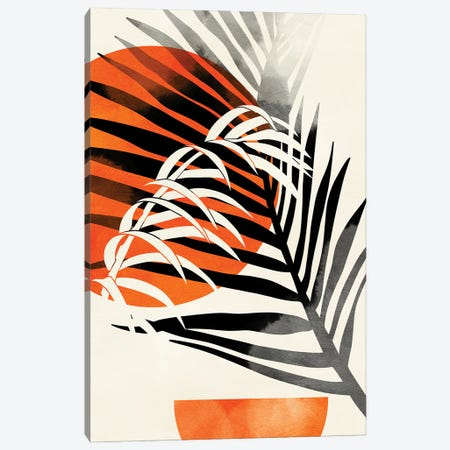 Palm Leaves Canvas Print #RTB114} by Ana Rut Bré Art Print