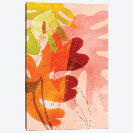 Leaves Minimal Canvas Print #RTB115} by Ana Rut Bré Canvas Print