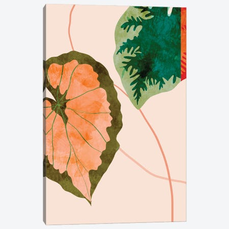 Tropical Leaves I Canvas Print #RTB116} by Ana Rut Bré Canvas Art Print