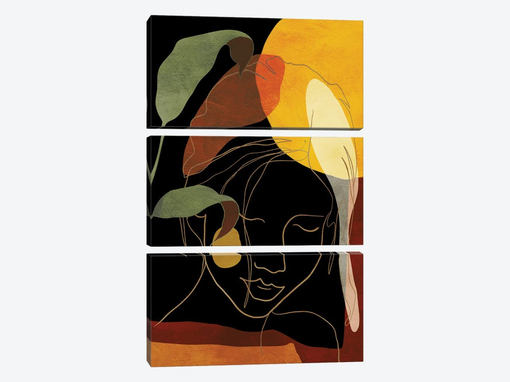 Woman In Black by Ana Rut Bré 3-piece Canvas Print