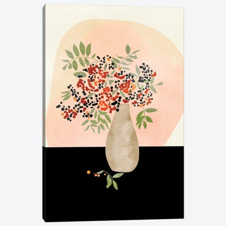 Floral Still With Vase Canvas Print #RTB119} by Ana Rut Bré Canvas Art