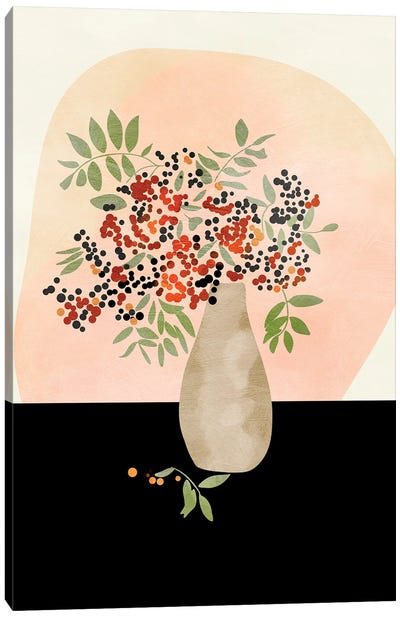 Floral Still With Vase Canvas Art Print