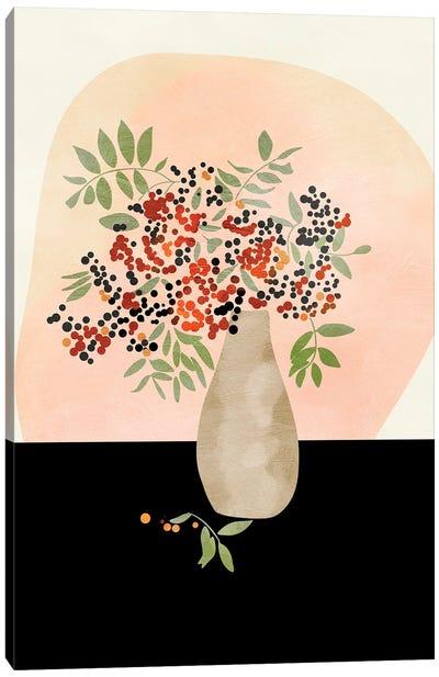 Floral Still With Vase Canvas Art Print