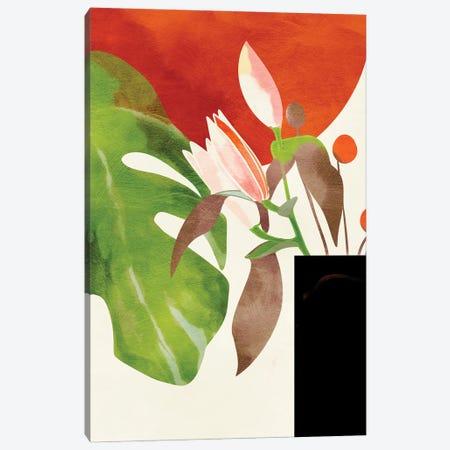 Tropical Sun With Flowers Canvas Print #RTB121} by Ana Rut Bré Canvas Art Print