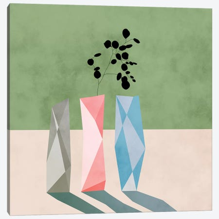 Floral Minimal Canvas Print #RTB15} by Ana Rut Bré Canvas Art Print