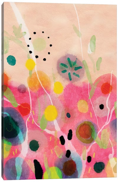 Flower Power Abstract Canvas Art Print