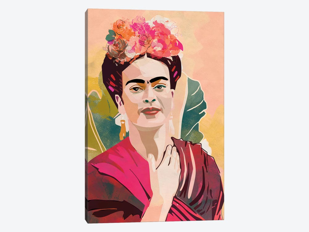 Frida Kahlo by Ana Rut Bré 1-piece Canvas Print