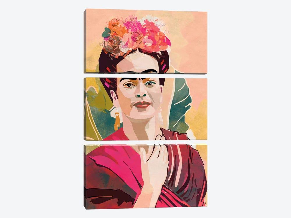 Frida Kahlo by Ana Rut Bré 3-piece Canvas Print