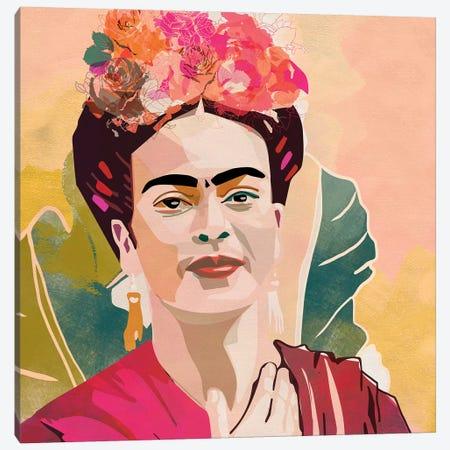 Frida Kahlo Square Canvas Print #RTB19} by Ana Rut Bré Canvas Artwork