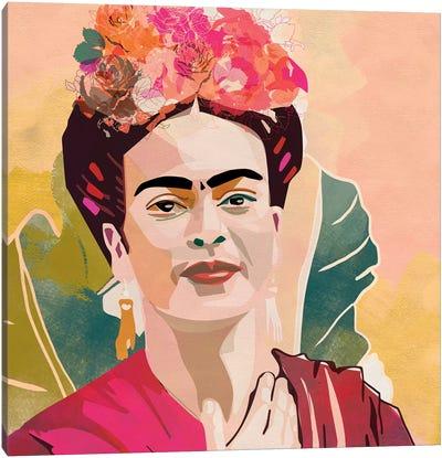 Frida Kahlo Square Canvas Art Print