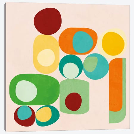 Geometric Mid Century Modern Summer Canvas Print #RTB24} by Ana Rut Bré Canvas Wall Art