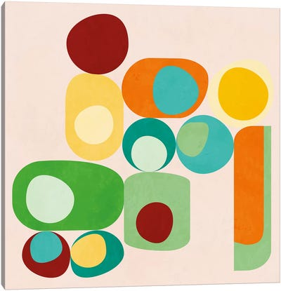 Geometric Mid Century Modern Summer Canvas Art Print