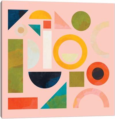 Geometric Play Modern Art Canvas Art Print