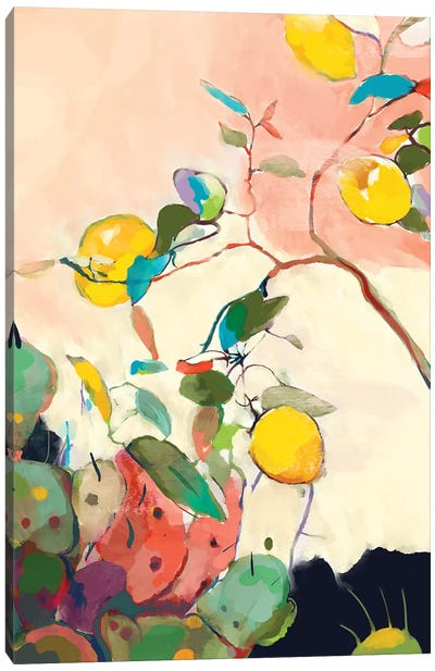 Lemon Tree Cacti Canvas Art Print