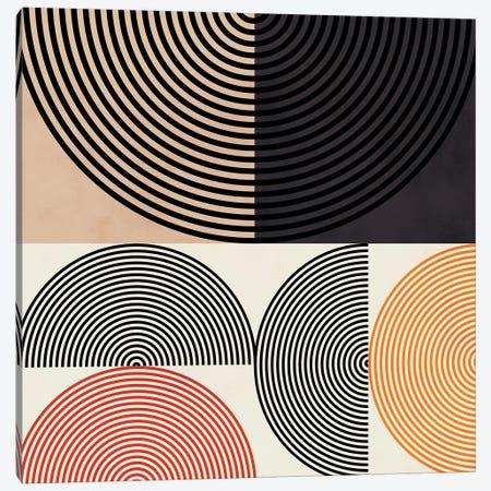 Lines & Shapes Ii Canvas Print #RTB41} by Ana Rut Bré Canvas Art Print