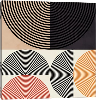 Lines & Shapes Ii Canvas Art Print