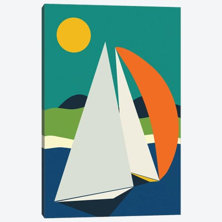 Mid Century Sails Canvas Print #RTB46} by Ana Rut Bré Canvas Artwork