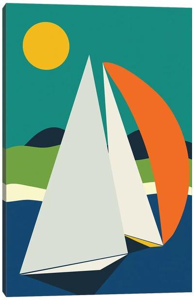 Mid Century Sails Canvas Art Print
