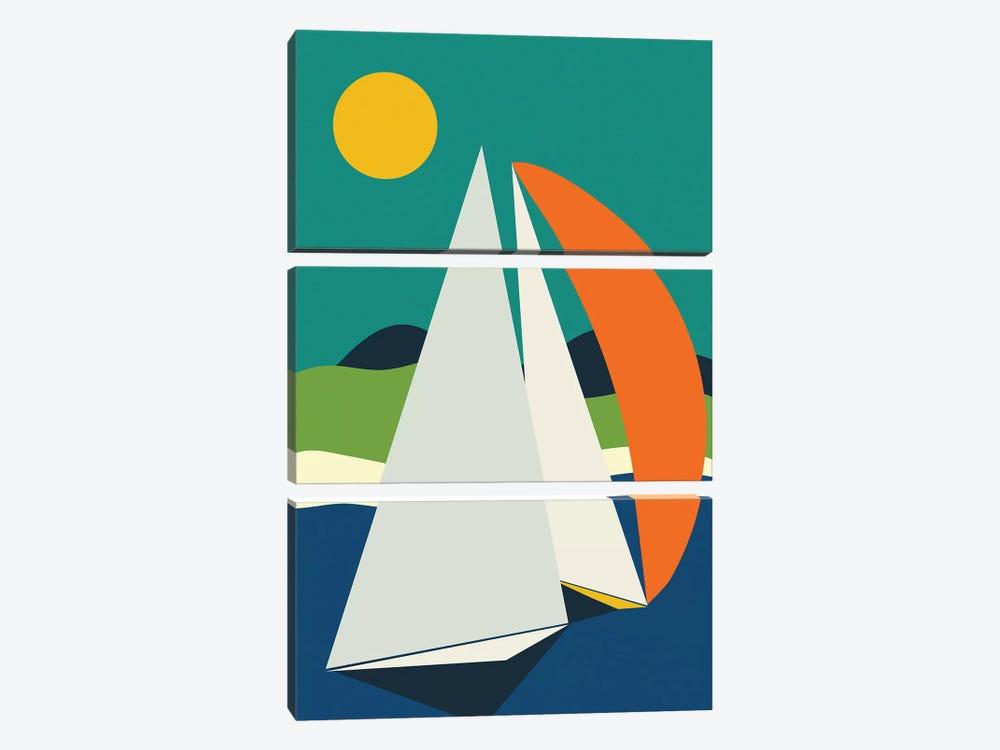 Mid Century Sails by Ana Rut Bré 3-piece Canvas Art