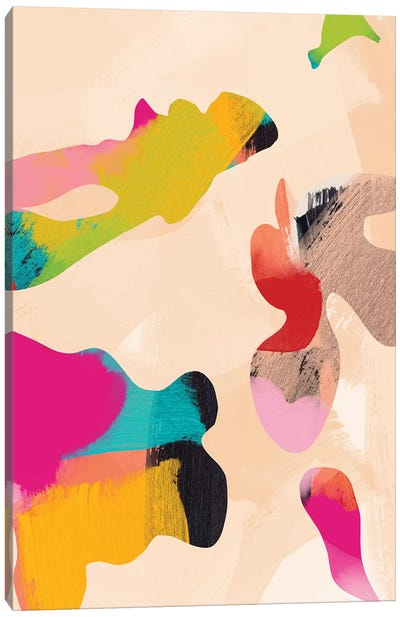 Abstract Bright Color Modern Canvas Art Print